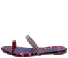 Tisha278 Pink Multi Snake Women's Sandal - Wholesale Fashion Shoes