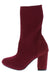 Sosa01 Wine Stretch Knit Extended Ankle Boot