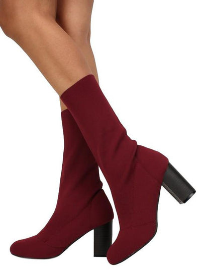 Sosa02 Wine Women's Boot - Wholesale Fashion Shoes
