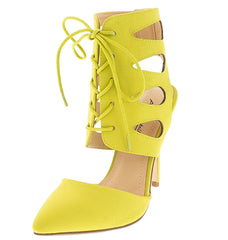 SPIRAL26 LIME HEEL - Wholesale Fashion Shoes