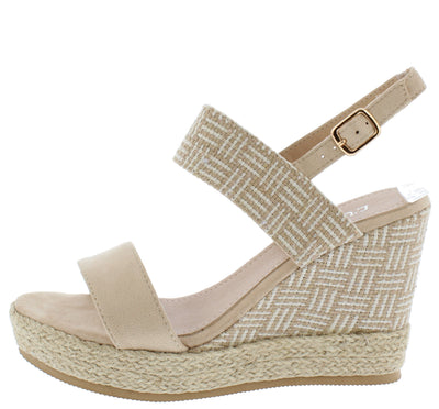 Stacey300w Beige Women's Wedge - Wholesale Fashion Shoes