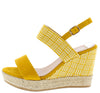 Stacey300w Yellow Women's Wedge - Wholesale Fashion Shoes