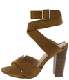 Starla Chestnut Suede Women's Heel - Wholesale Fashion Shoes