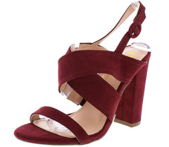 STORY WINE SUEDE WOMEN'S HEEL - Wholesale Fashion Shoes