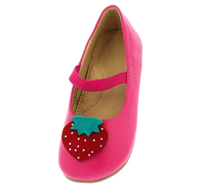 Alessia231 Fuchsia Strawberry Kids Sandal Flat - Wholesale Fashion Shoes