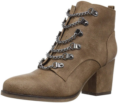 Gabrielle177 Wheat Multi Chain Front Ankle Boot - Wholesale Fashion Shoes