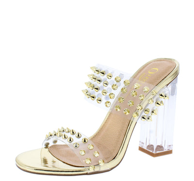 Summy Gold Patent Women's Heel - Wholesale Fashion Shoes