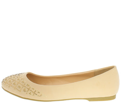Sunny66 Nude Women's Flat - Wholesale Fashion Shoes