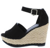 Sunshine01 Black Women's Wedge - Wholesale Fashion Shoes