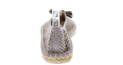 Sunshine03 Silver Bow Espadrille Rope Flat - Wholesale Fashion Shoes