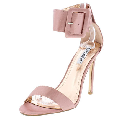 Suzzy42 Pink Wide Ankle Strap Buckle Stiletto Heel - Wholesale Fashion Shoes