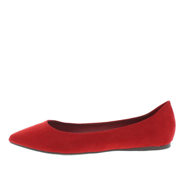 7acd3023371 Talia01 Red Flat Shoes