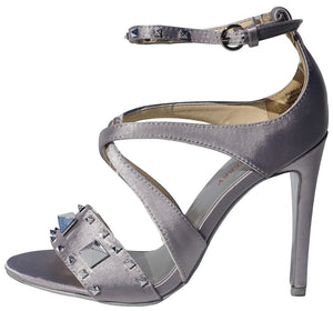 3c66042d855 Tanya Silver Studded Open Toe X Strap Stiletto Heel - Wholesale Fashion  Shoes