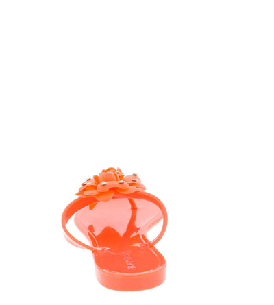 Tattoo02 Coral Crystal Flower Jelly Sandal - Wholesale Fashion Shoes