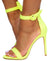 Jocelyn278 Yellow Open Toe Ankle Strap Stiletto Heel