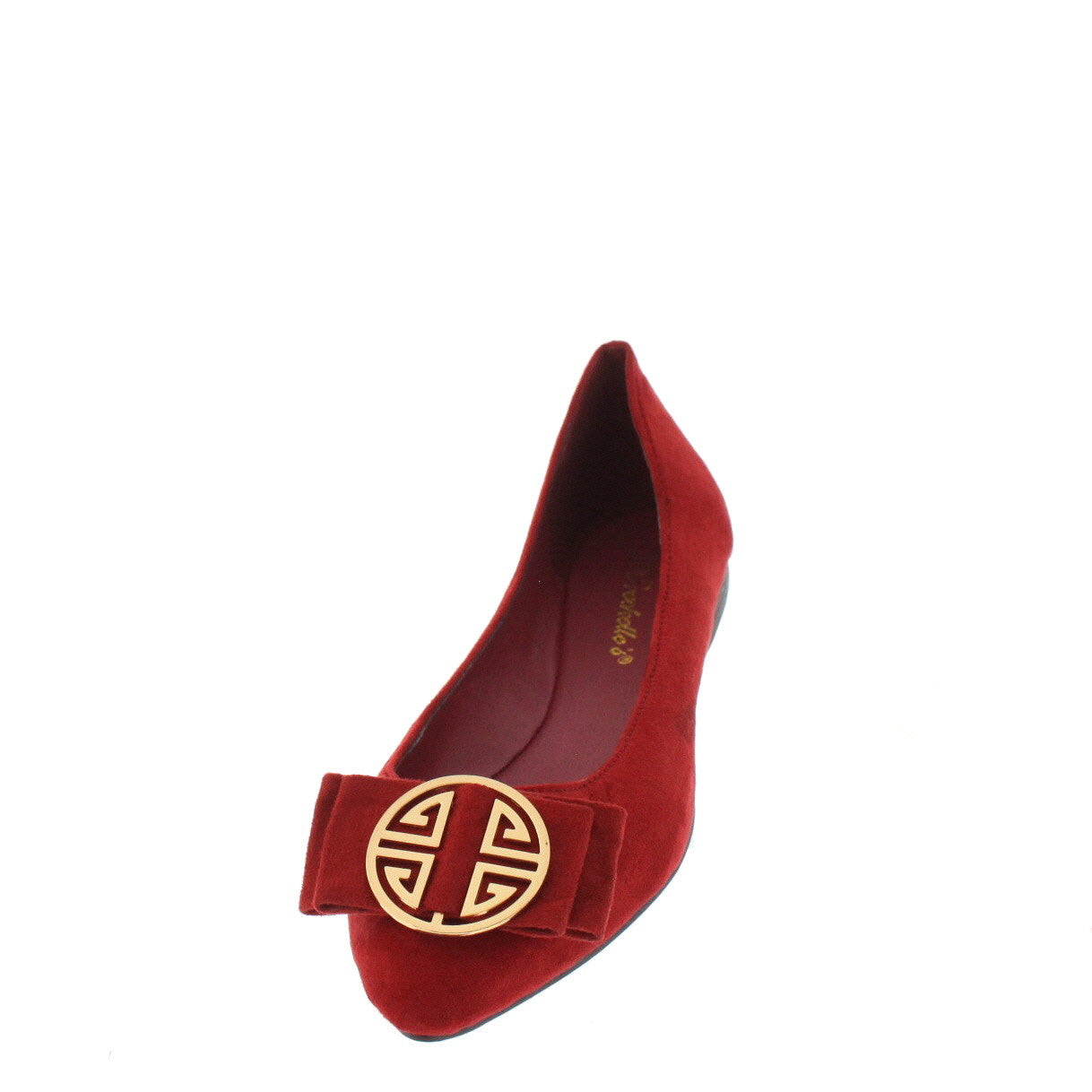 aa22fee6928 Tasha25 Red Bow Emblem Pointed Toe Flat Shoes - Wholesale Fashion Shoes