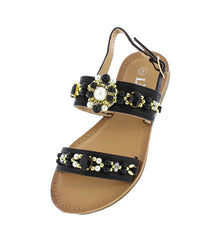 TANYA36K BLACK KIDS SANDAL - Wholesale Fashion Shoes