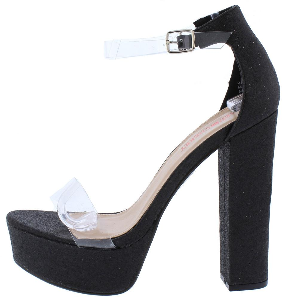24e62e0d9e9 Tara1 Black Lucite Open Toe Ankle Strap Platform Heels Only  10.88 - Wholesale  Fashion Shoes