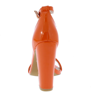 Terrie1 Orange Women's Heel - Wholesale Fashion Shoes