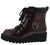 Thomas01 Burgundy Box Pu Lace Up Combat Boot