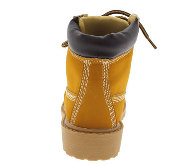 Timber002km Camel Lace Up Kids Boot - Wholesale Fashion Shoes