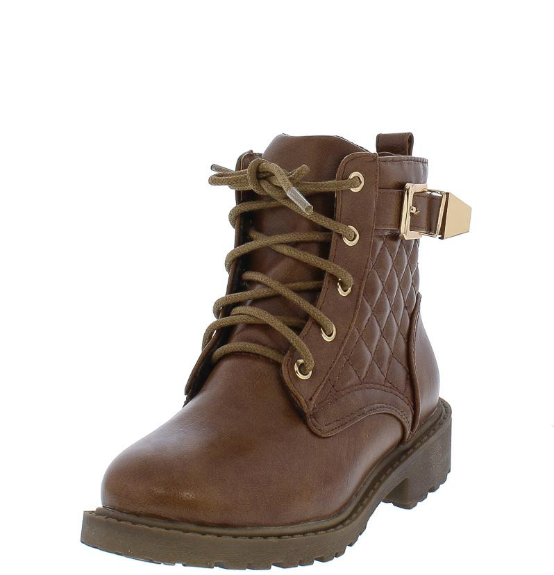 TIMBER180KM BROWN KIDS QUILTED GOLD BUCKLE LUGG BOOTS $12... : quilted brown boots - Adamdwight.com