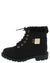 Timber192km Black Nubuck Faux Fur Lug Sole Kids Boot