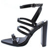 Tracy Black Patent Women's Heel - Wholesale Fashion Shoes