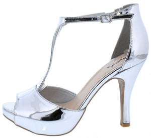 64b98555be37c ... Sandal  10.88 · Trench372 Silver Mirror Peep Toe T Strap Short Heel -  Wholesale Fashion Shoes