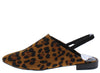 Adrianna156 Leopard Almond Toe Slingback Mule Flat - Wholesale Fashion Shoes