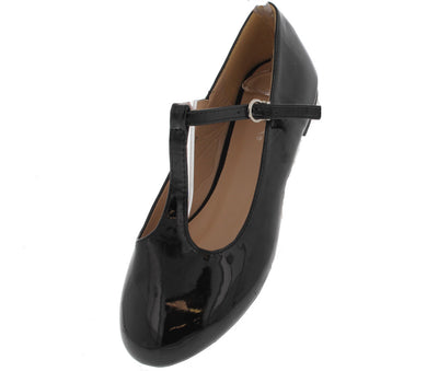Triss23 Black Patent Mary Jane Flat - Wholesale Fashion Shoes