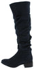 Trixie03kh Navy Almond Toe Knee High Boot