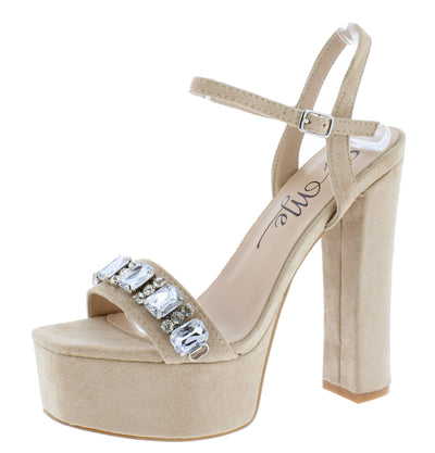 Tulsar Nude Women's Heel - Wholesale Fashion Shoes