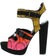Tumi Multi Multi Buckle Peep Toe Cut Out Platform Heel