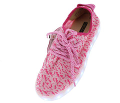 SOFIA069 PINK WHITE WOMAN'S FLAT - Wholesale Fashion Shoes