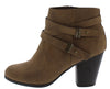Undines Light Brown Dual Wrap Strap Ankle Boot - Wholesale Fashion Shoes