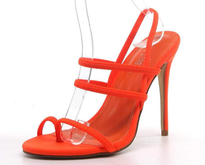 Unrelated Orange Woman's Heel - Wholesale Fashion Shoes