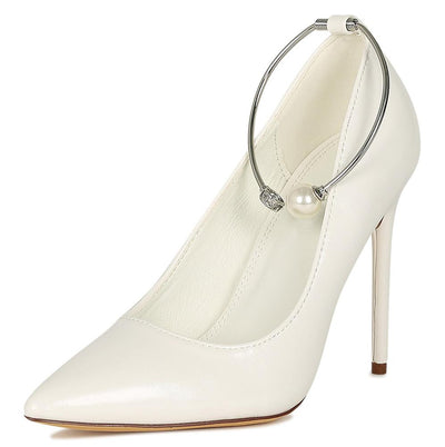 Ruby229 White Woman's Heel - Wholesale Fashion Shoes