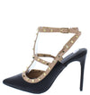 Julie292 Black Caged Rock Stud Pointed Toe Stiletto Heel - Wholesale Fashion Shoes