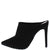 Vava04ax Black Suede Pu Pointed Toe Stiletto Mule Heel