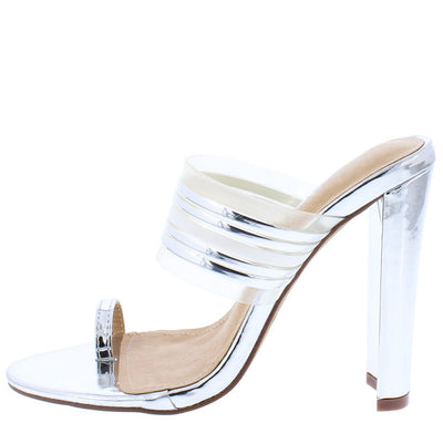Adela218 Silver Woman's Heel - Wholesale Fashion Shoes
