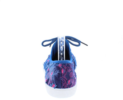 Vera01 Multi Color Tie Dye Distressed Sneaker Flat - Wholesale Fashion Shoes
