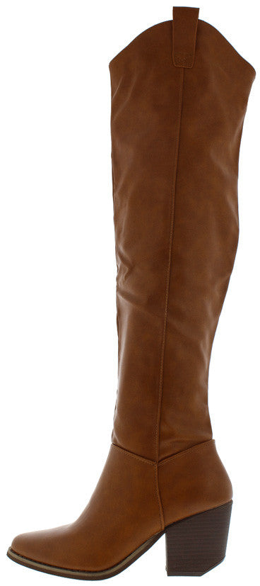 7e9ebc640c4 Victoria02 Camel Over the Knee Cowboy Boot