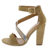 Vika Taupe Women's Heel - Wholesale Fashion Shoes