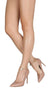 Ruby229 Nude Pointed Toe Faux Pearl Ankle Ring Stiletto Heel