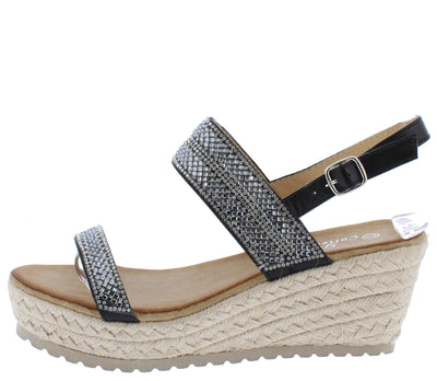 W2024 Black Women's Wedge - Wholesale Fashion Shoes