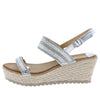 W2024 Silver Women's Wedge - Wholesale Fashion Shoes