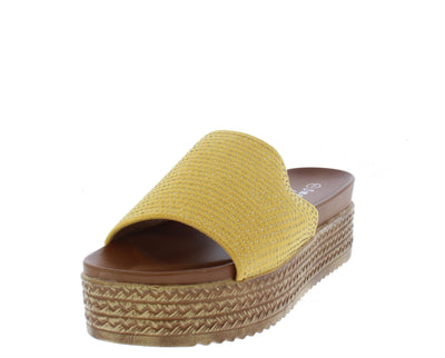 W3003 Yellow Women's Sandal - Wholesale Fashion Shoes
