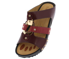 W5319 MAROON WOMEN'S SANDAL - Wholesale Fashion Shoes