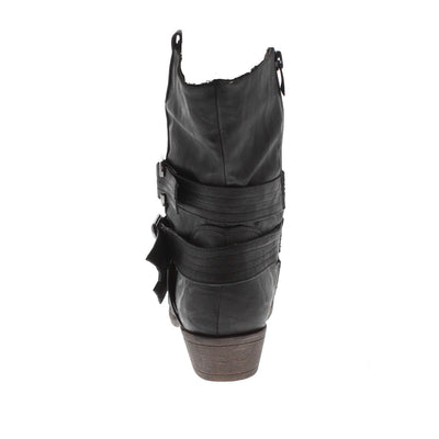 Wilson5 Black Short Riding Boot - Wholesale Fashion Shoes